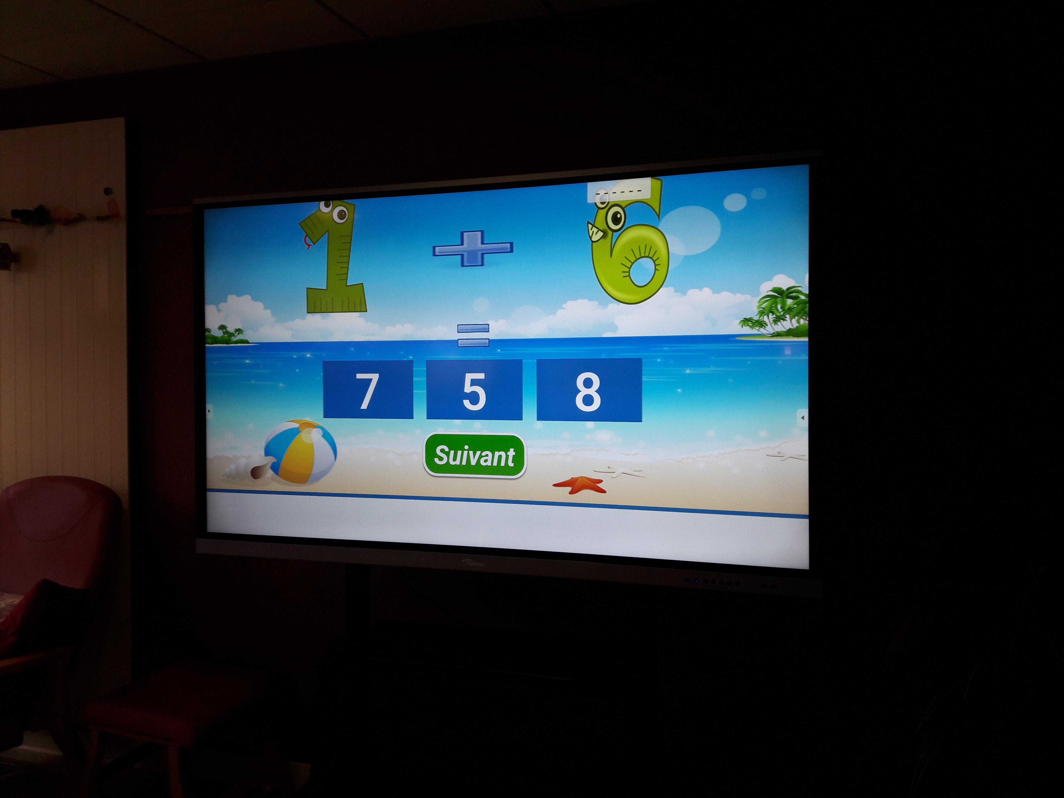 Un nouvel outil arrivé : un écran tactile interactif !!